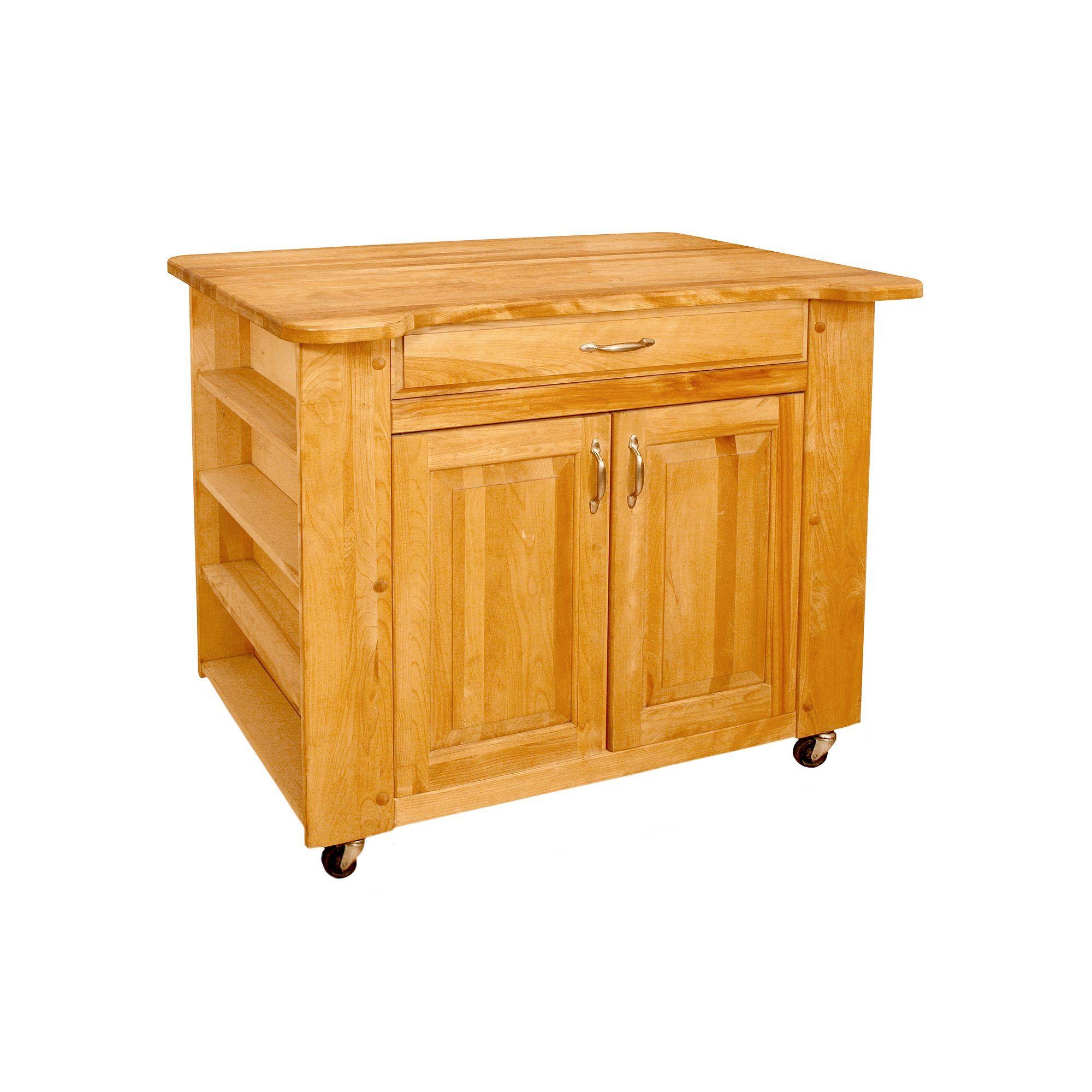 Catskill Craftsmen Deep Storage Large Island Kitchen Cart in ...
