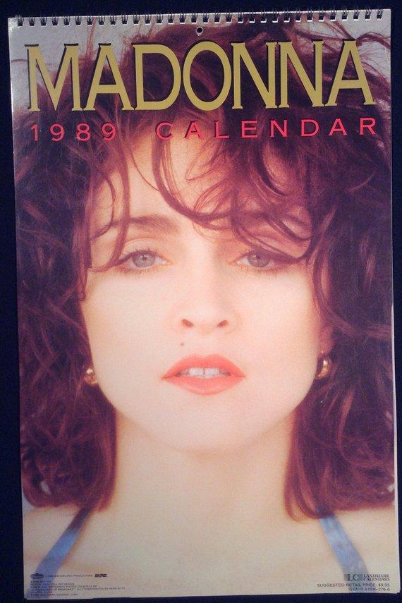 Rare Madonna 1989 Calendar From Landmark Calendar 12 Month Full