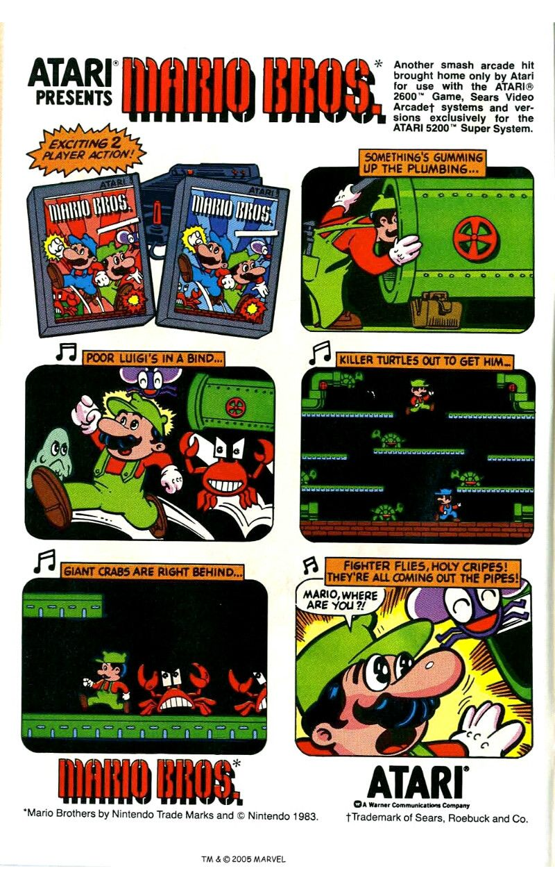 Atari Mario Retro Ad Jogos Classicos Nintendo Mario Bros
