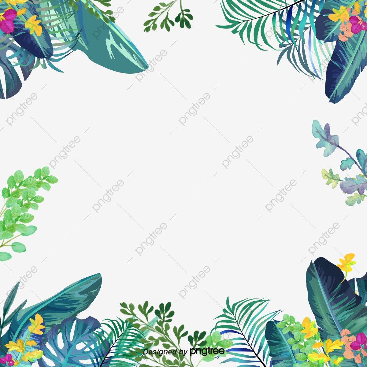 Green Small Fresh Border Border Taobao Border Small Fresh Border Png And Vector With Transparent Background For Free Download Flower Border Graphic Design Background Templates Floral Border