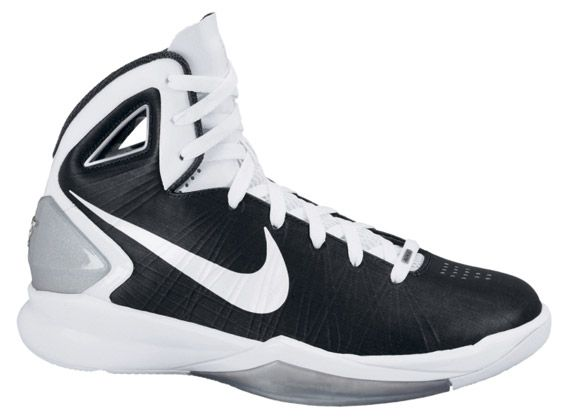 new products c2d3e 3bfe2 Nike Hyperdunk 2010 Womens TB Black White Metallic Silver