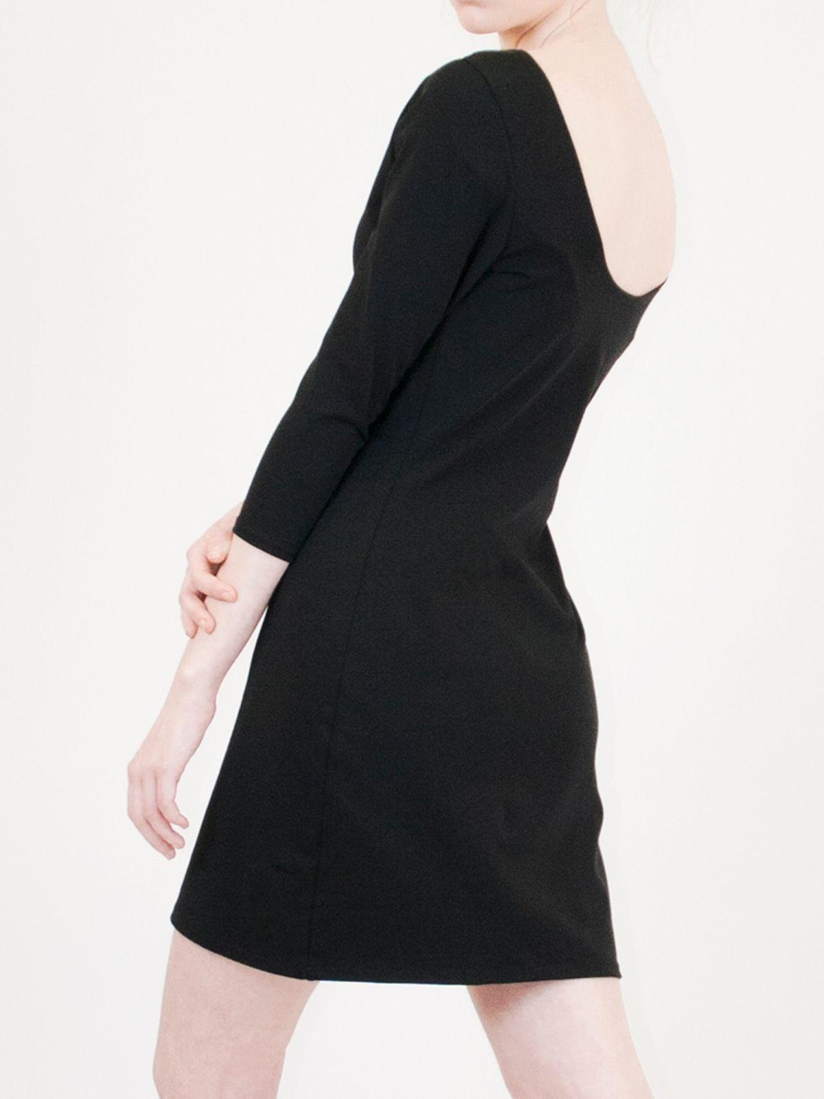 Robe moulante noire en coton