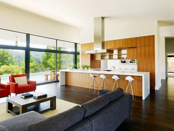 Image result for mid century modern open floor plan