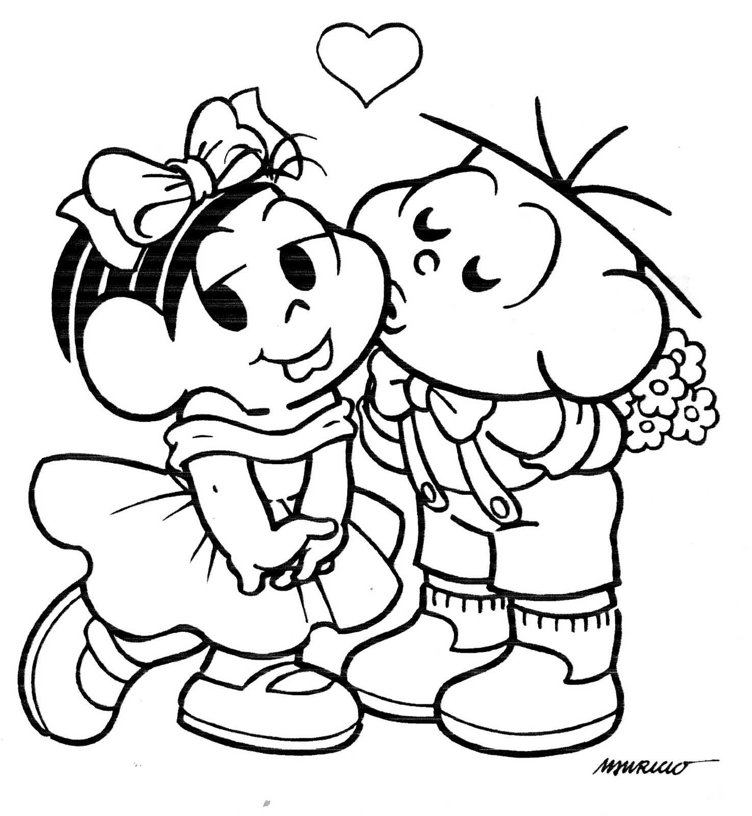 Desenho Monica E Cebolinha Colorir Monica E Cebolinha Monica