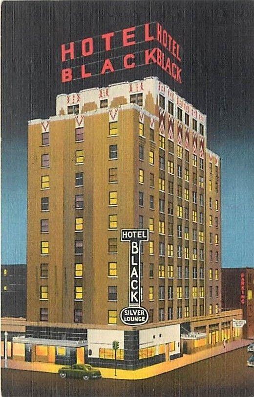Ok Oklahoma City Hotel Black Mailed 1955 H50505 Oklahoma City Hotels Downtown Hotels Hotel