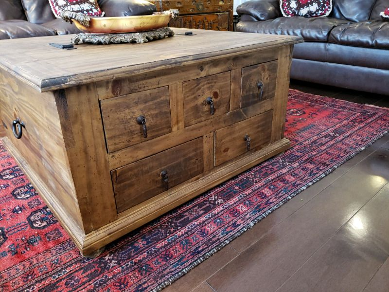 Listing Item Solid Wood Coffee Table Coffee Table With Drawers