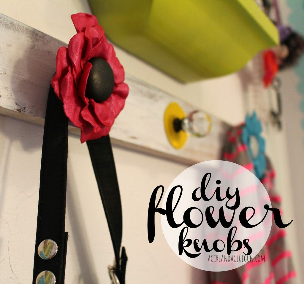 diy flower knobs with premo clay