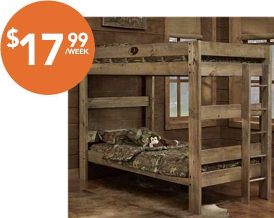 Majik Rent To Own Simply Bunk Beds Mossy Oak Twin Twin Id 521