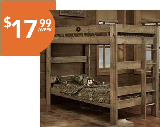 Majik Rent To Own Simply Bunk Beds Mossy Oak Twin
