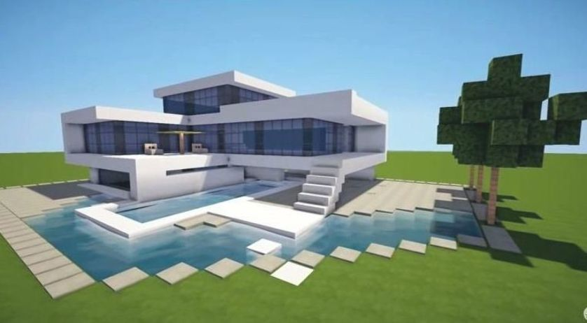 Pin By Shelli Holt On Liv Minecraft Modern Modern Minecraft Houses Minecraft Houses Blueprints