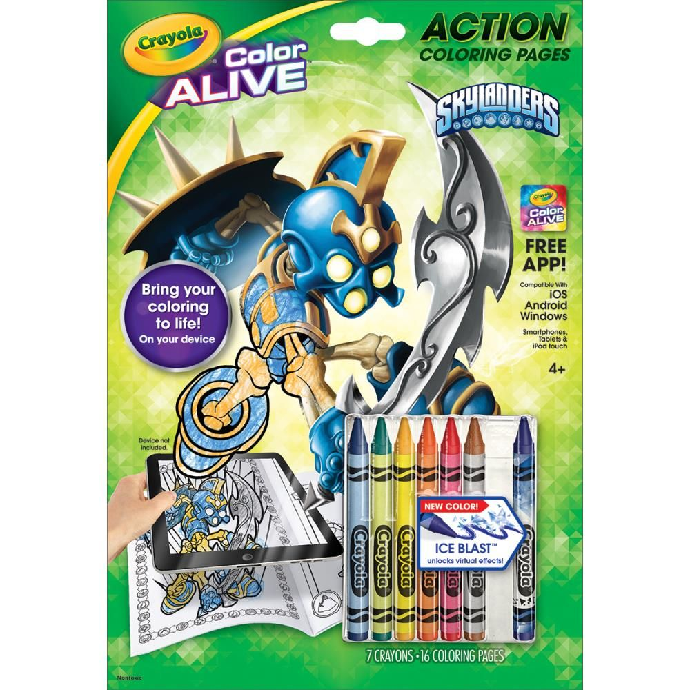 95-1045 Crayola Color Alive Action Coloring Pages - Skylanders ...