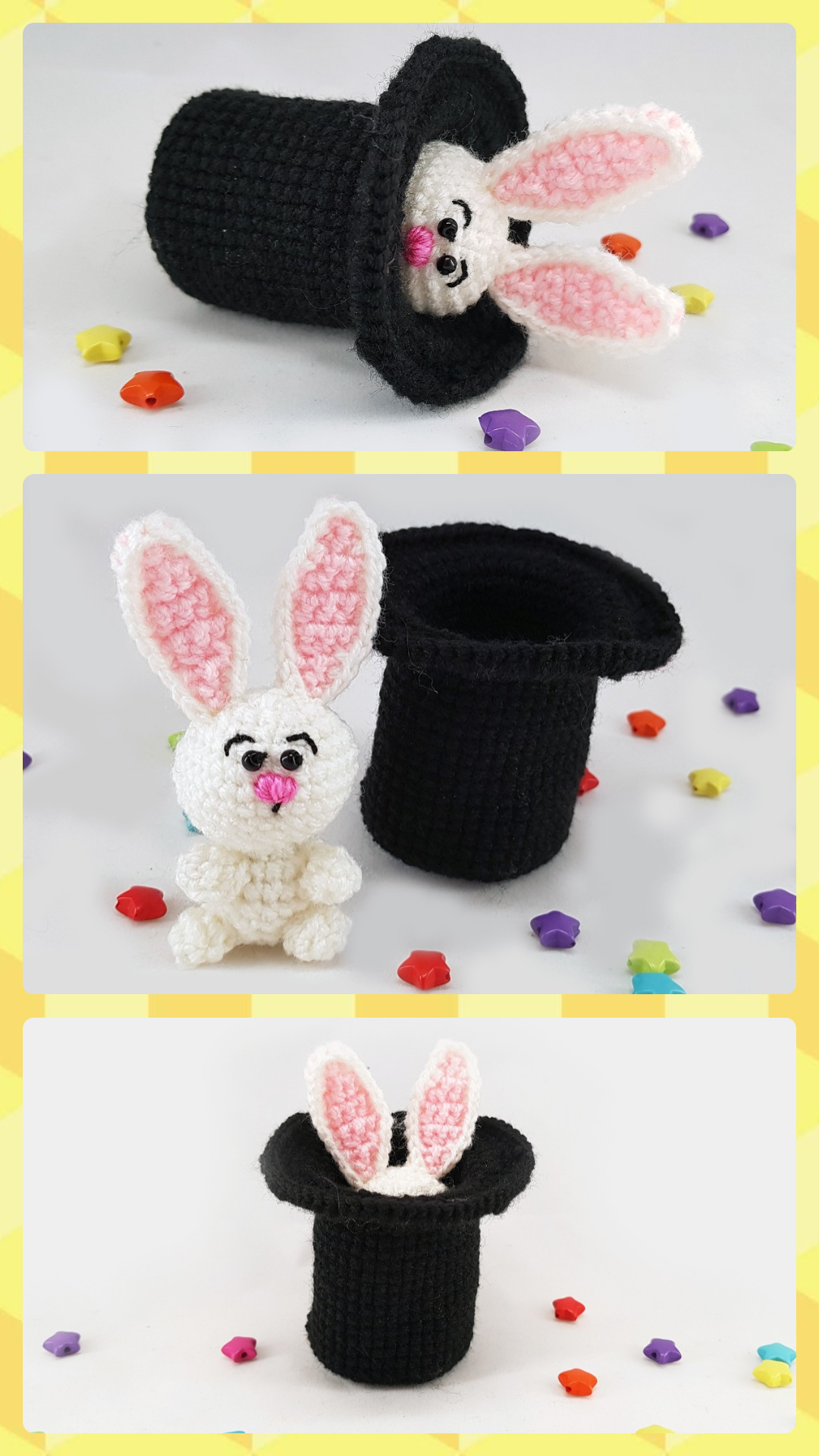 Rabbit in the hat crochet bunny magician hat bunny gift for rabbit in the hat crochet bunny magician hat bunny gift for toddlers easter bunny easter decor negle Image collections