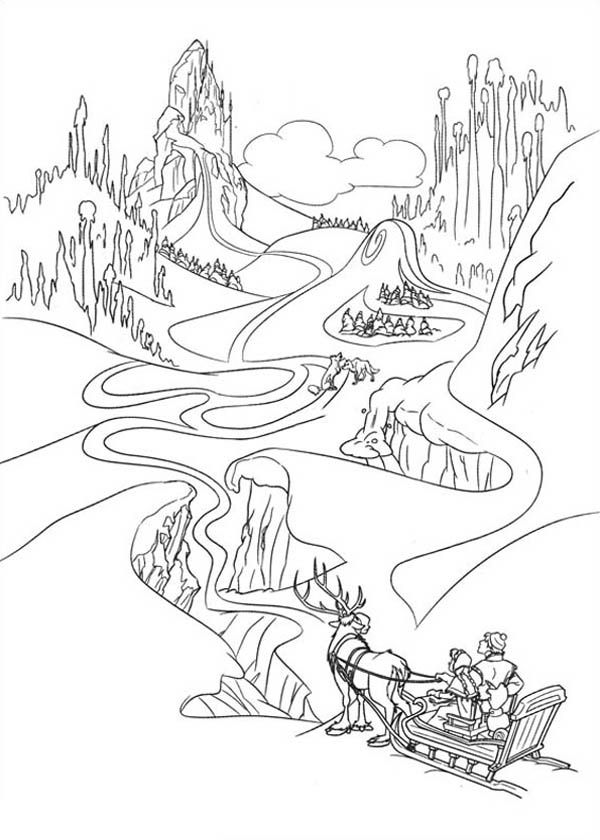Anna In The Way Of Finding Elsa Coloring Page Free Printable Frozen Pages