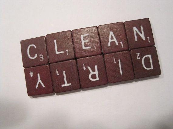clean/dirty diswasher magnet.. cute idea!