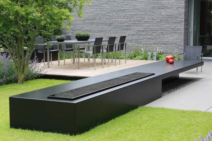 Moderne tuin met patio puurgroen landscaping pinterest