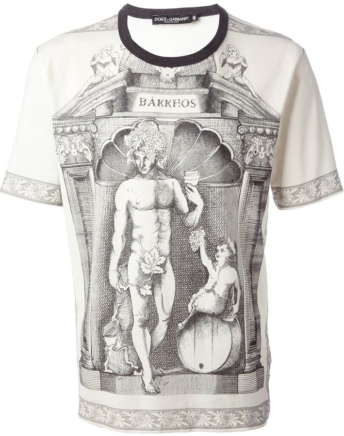 9fbcc667d1db31 Dolce & Gabbana ancient Greek print t-shirt on shopstyle.co.uk | TOPS