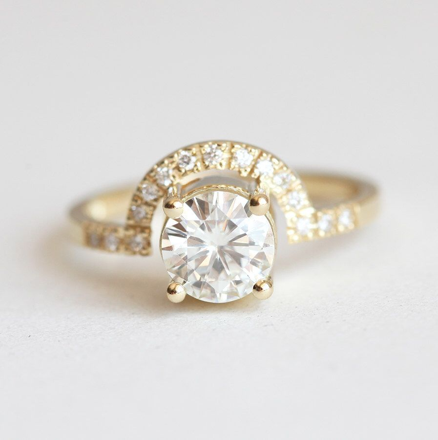 Moissanite ring diamond wedding ring diamond engagement ring
