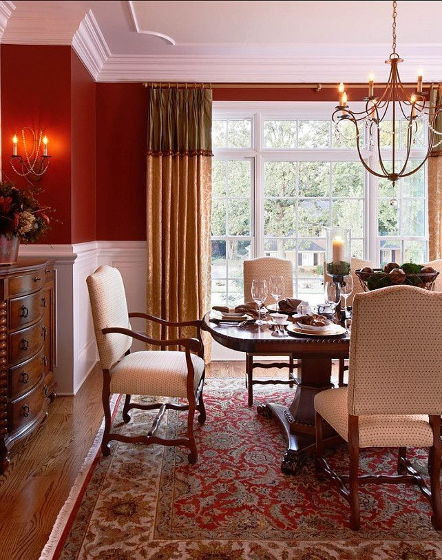 What Color Curtains With Red Walls 1000 Images About Chair Rail