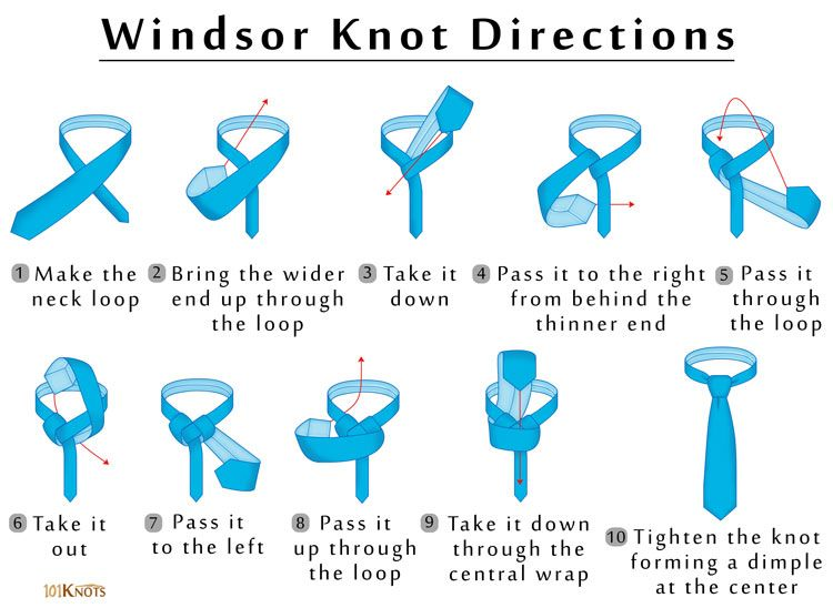 Windsor Knot | Windsor knot, Windsor tie, Windsor tie knot