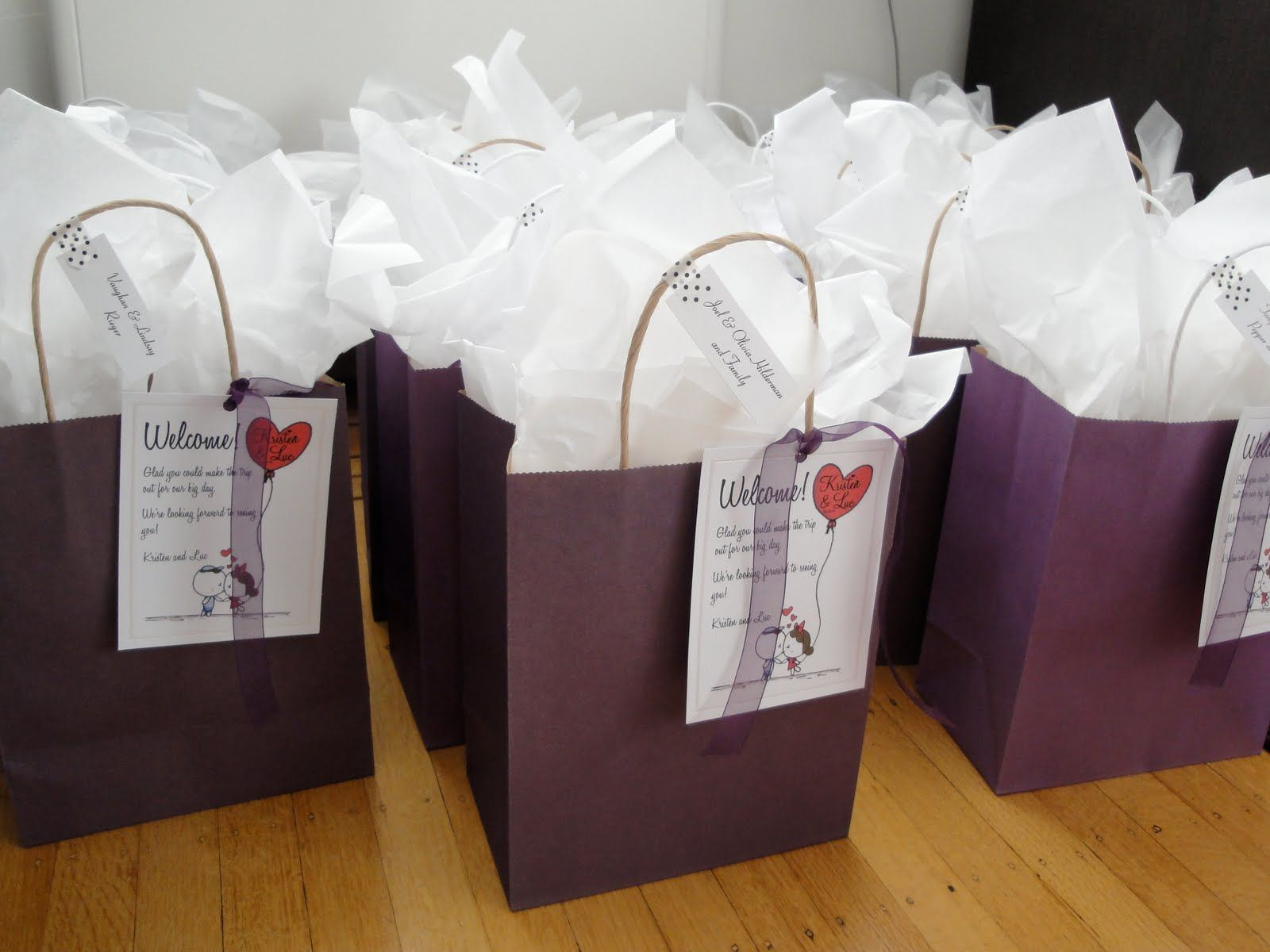 Diy welcome bags for out of town guests wedding for Wedding welcome gifts for out of town guests