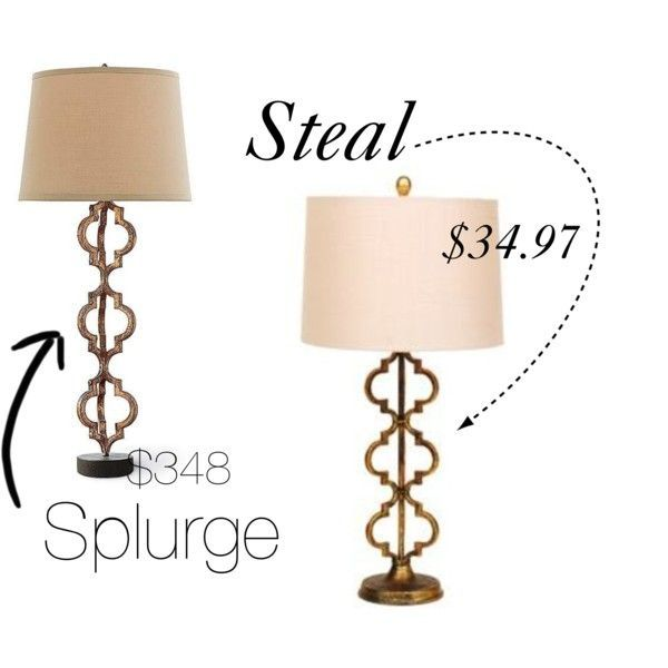 Persnickety Peaches // Splurge vs. Steal: Quatrefoil table lamp ...