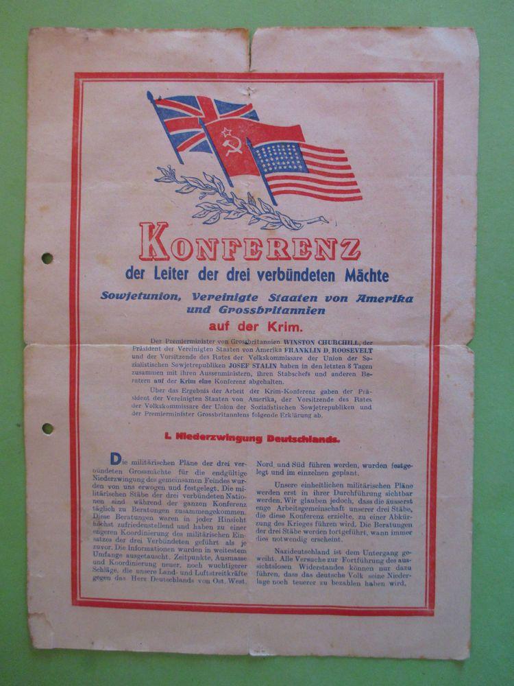 2 WK Russische Propaganda Konferenz auf der Krim 13 Februar 1945 LUMOTOR