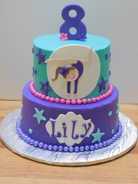 Phenomenal Gymnast Birthday Cake Purple Cake Girl Birthday With Images Personalised Birthday Cards Petedlily Jamesorg