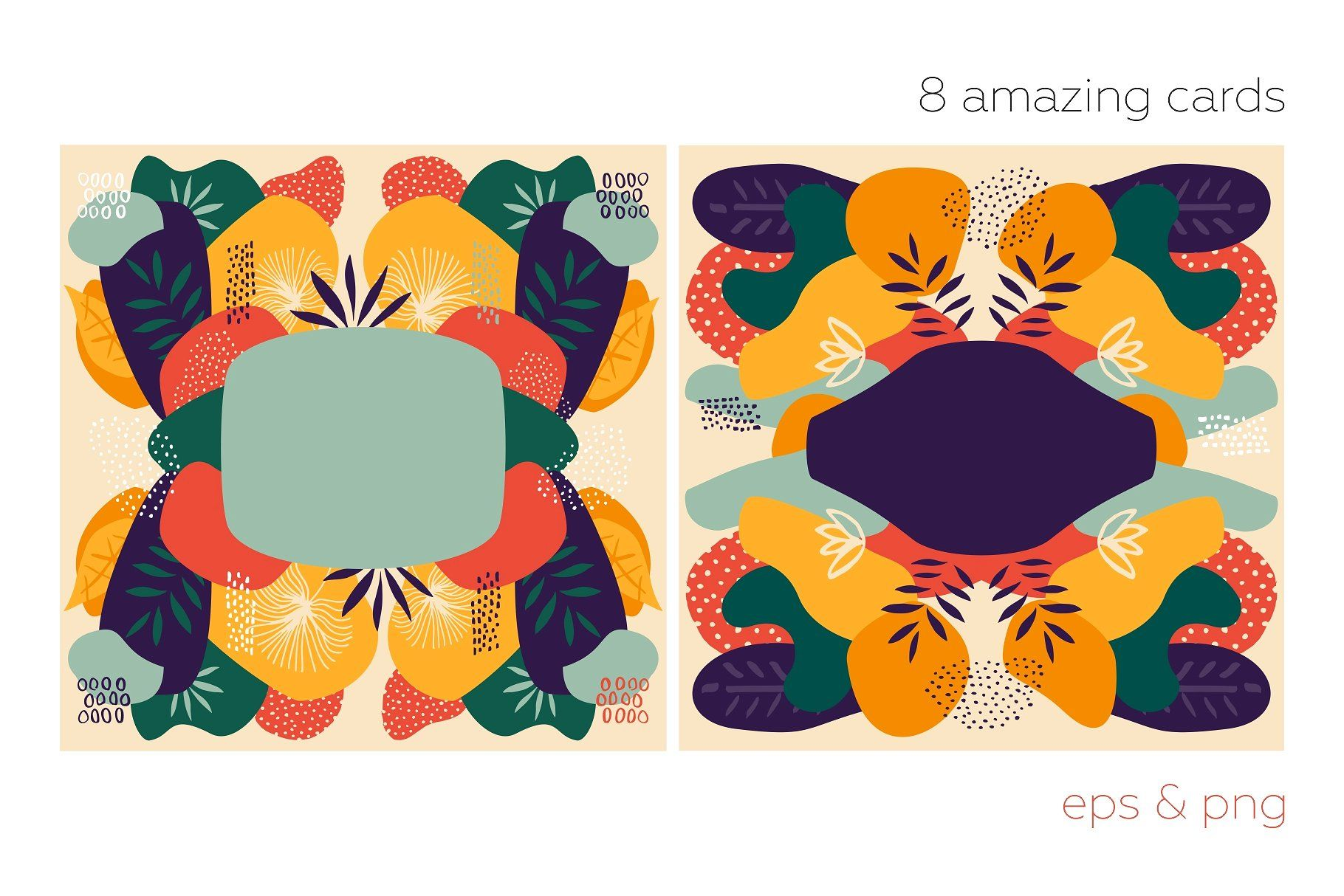Vectors floralium abstract patterns set fun mix design create new look also rh pinterest