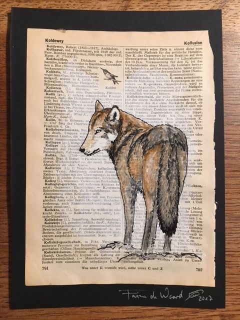 Wolf 9 - another one of the acryliy-paintings that are used to collect money for German Wolves <3