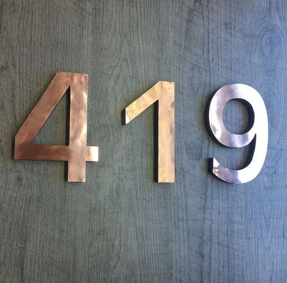 Large Copper Block Numbers 3 X 6 150 By Davidmeddingsdesign