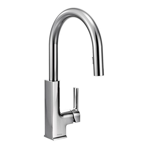 Moenu0027s STo Chrome One Handle High Arc Pulldown Kitchen Faucet | Grossi  Plumbing