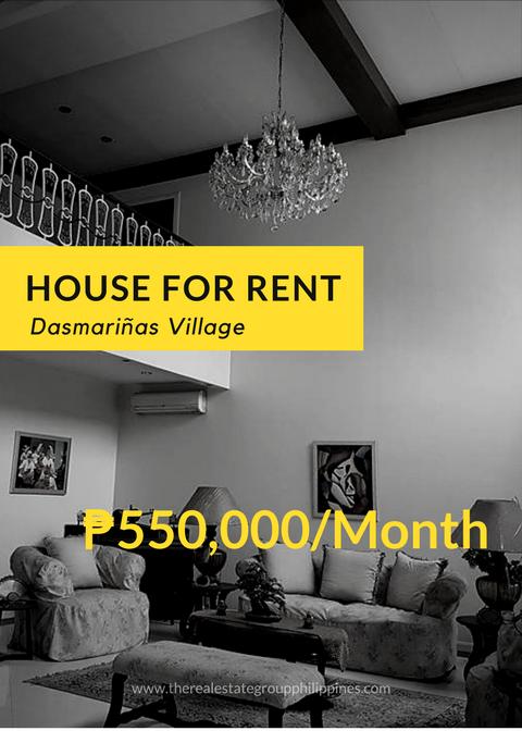 For Rent: 6BR House - Dasmariñas Village Makati City Land Area ...