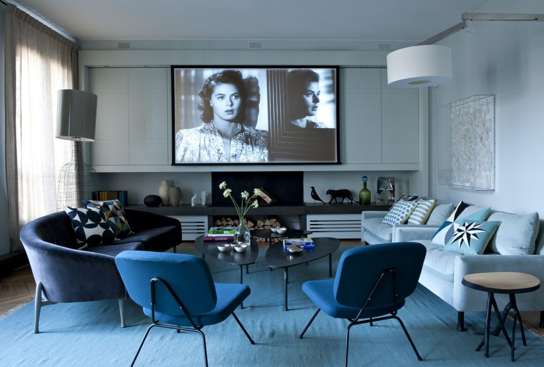 Ambiance bleutée par l\'agence Double G | Louvre, Apartment projects ...