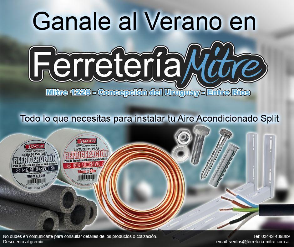 Publicidad de productos de Ferretería Mitre. Todo lo que