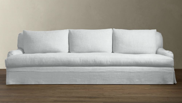 10 Easy Pieces Linen Slipcovered Sofas Restoration Hardware
