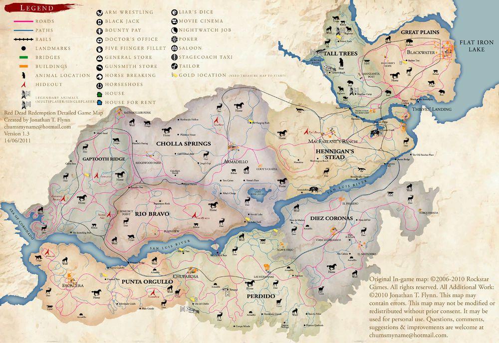 Mapa Red Dead Redemption.Settlement Red Dead Redemption Red Dead Redemption Ii