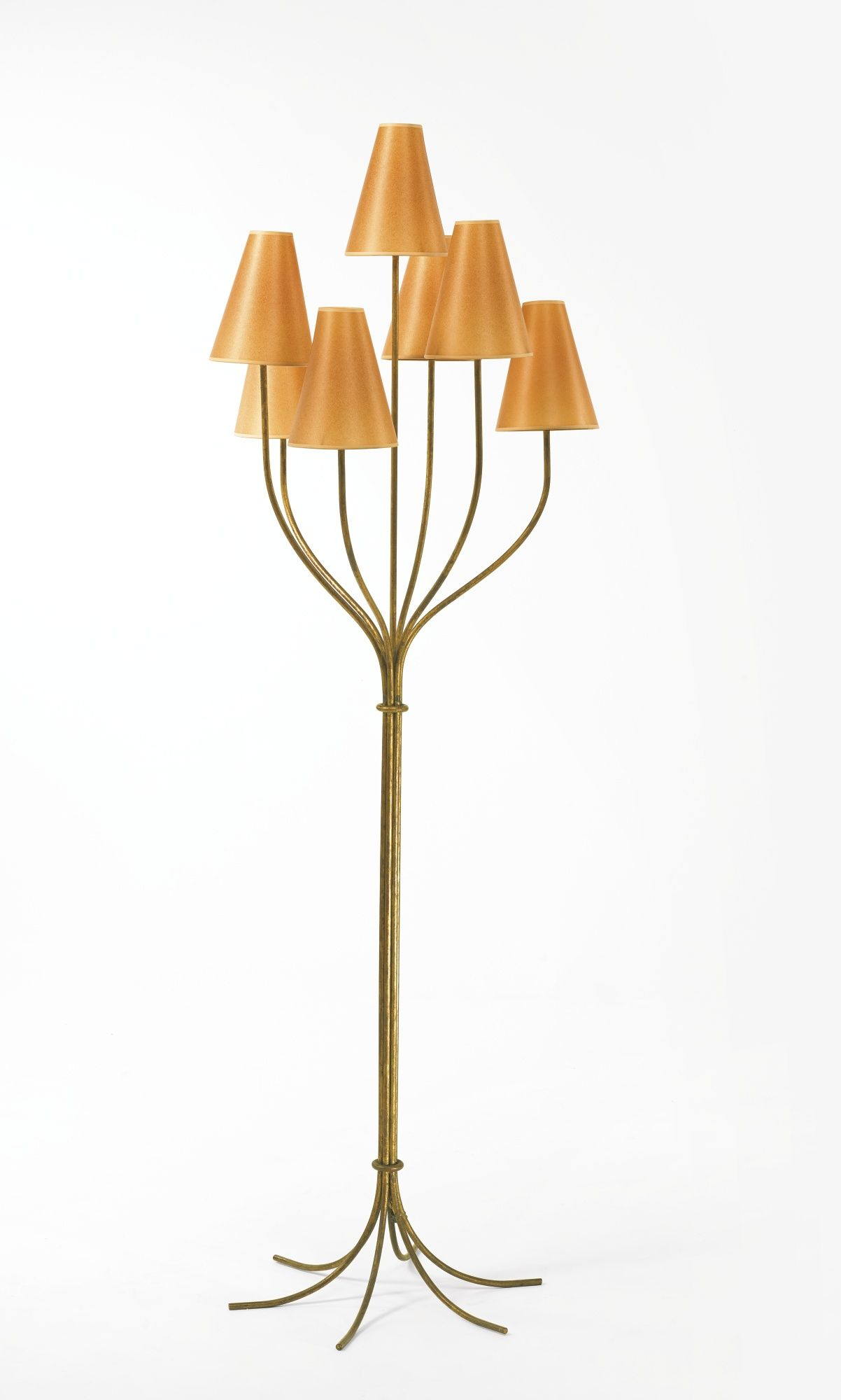 Jean Royere Persan Floor Lamp Gilt Metal And Paper Shades 71 5 8 In 182 Cm High Including Shades Circa 1955 Faux Chateau Sothebys Gilt