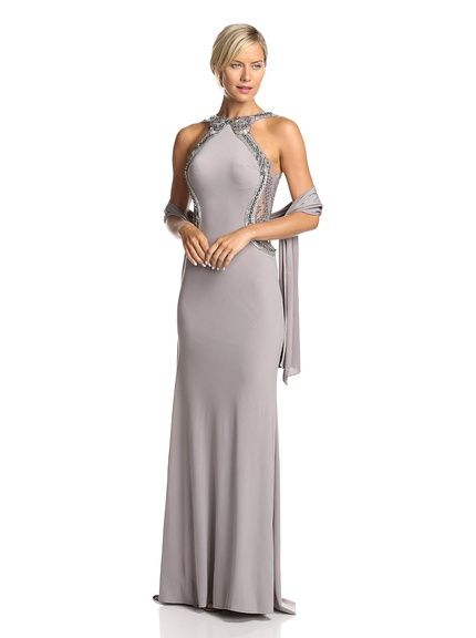 Terani Womens Sequin Off-Shoulder Gown, http://www