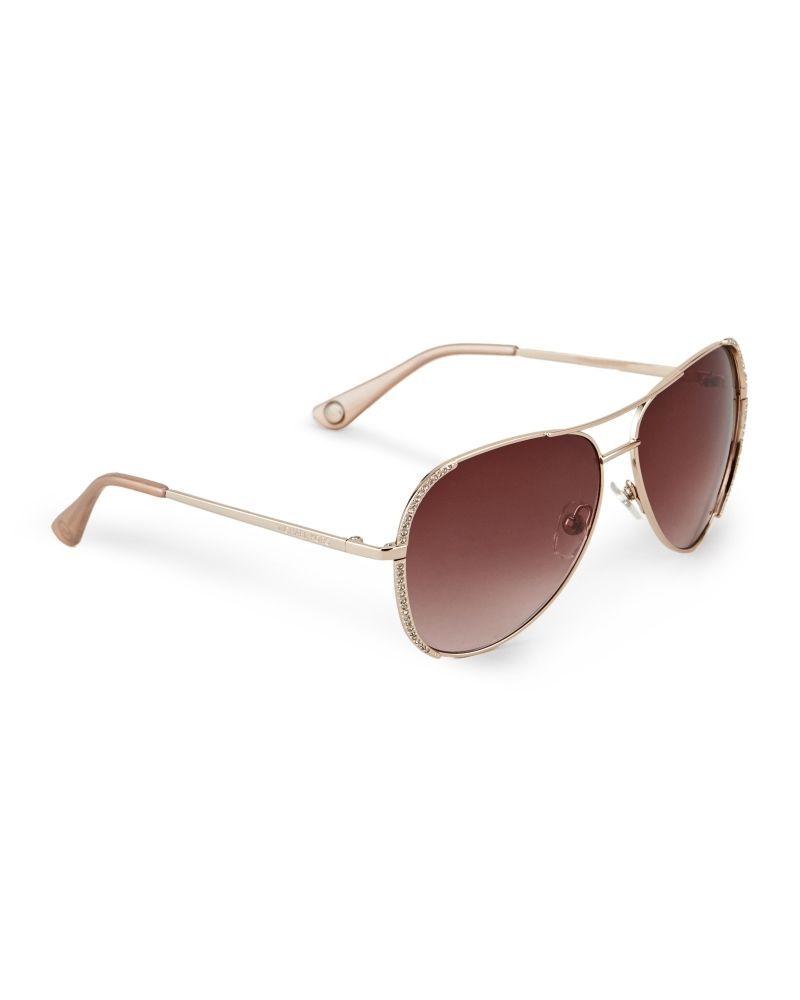 45c1cadce58f New Michael Kors Sadie Aviator Sunglasses Rose Gold with Swarovski Crystals  $139 | eBay