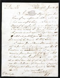 B・フランクリンがG・ワシントンへ宛てた手紙