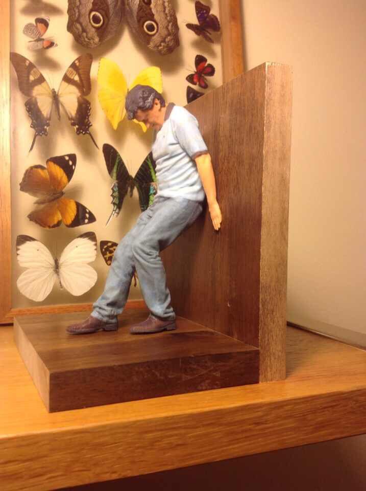 Figura 3D en miniatura hecha a escala.