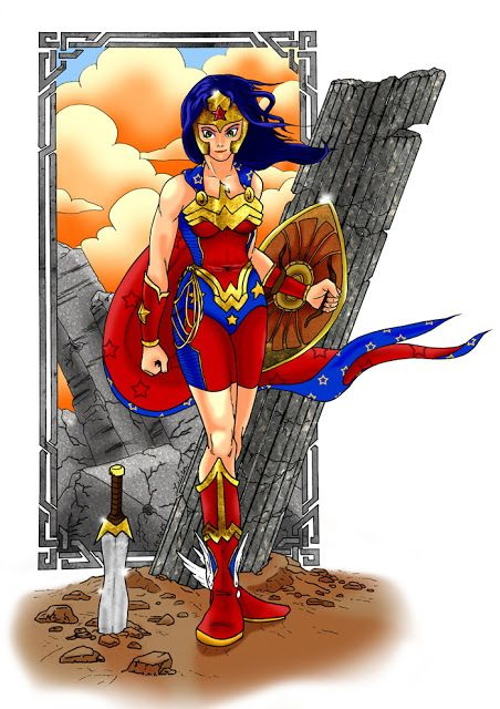 Wonder Woman En Couleur Par Juju Gribouille Dc Comics Wonder
