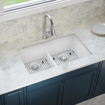 33x19 kitchen sink butterfly undermount sinks elkay classic 33 x 19 double basin in 2018 quartz with aqua divide finish white