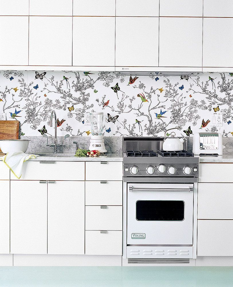 Kitchen Wallpaper Backsplash: 15 Genius Kitchen DIYs You Never Saw Coming