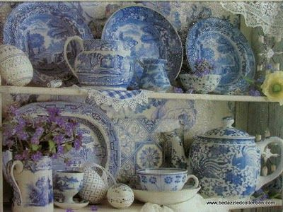 Blue and white, nice