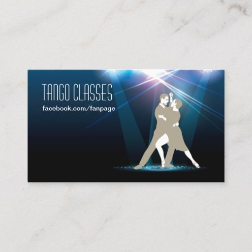 Ballroom Dancers In The Spotlight Tango Classes Business Card Zazzle Com Ballroom Dancer Tango Tango Dancers