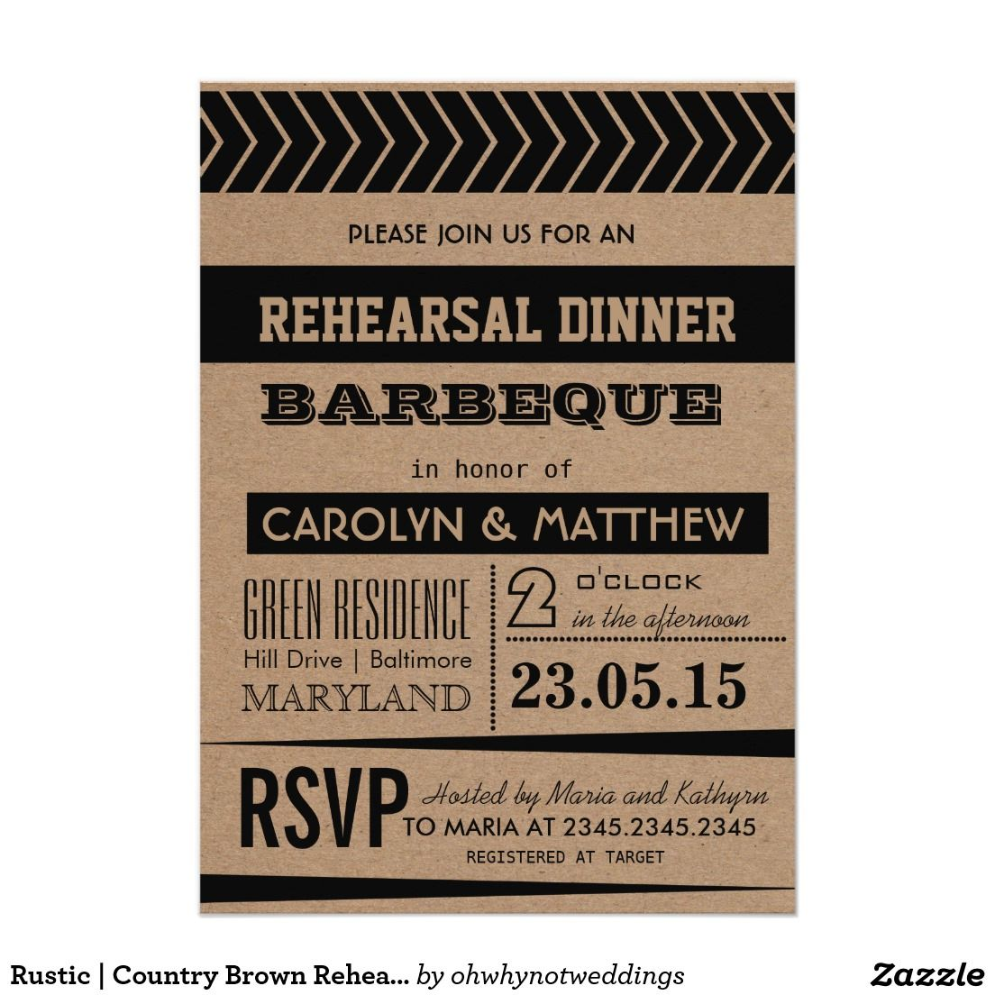 Rustic | Country Brown Rehearsal Dinner Barbeque