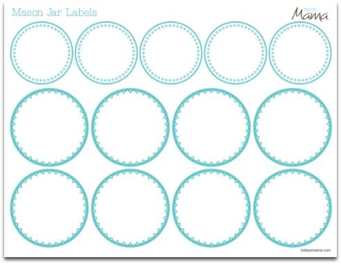 Printable Jar Label Template | Jar labels and Label templates