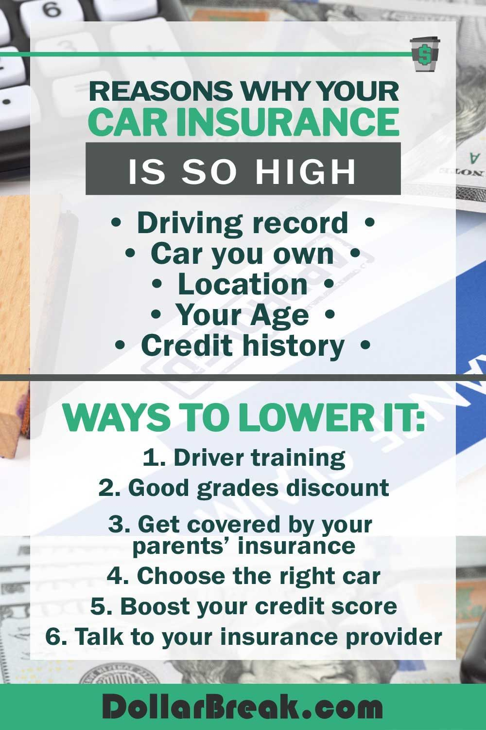 This Is Why Your Car Insurance Is So High Plus 6 Ways To Lower It Car Insurance Insurance Sales Insurance Classes