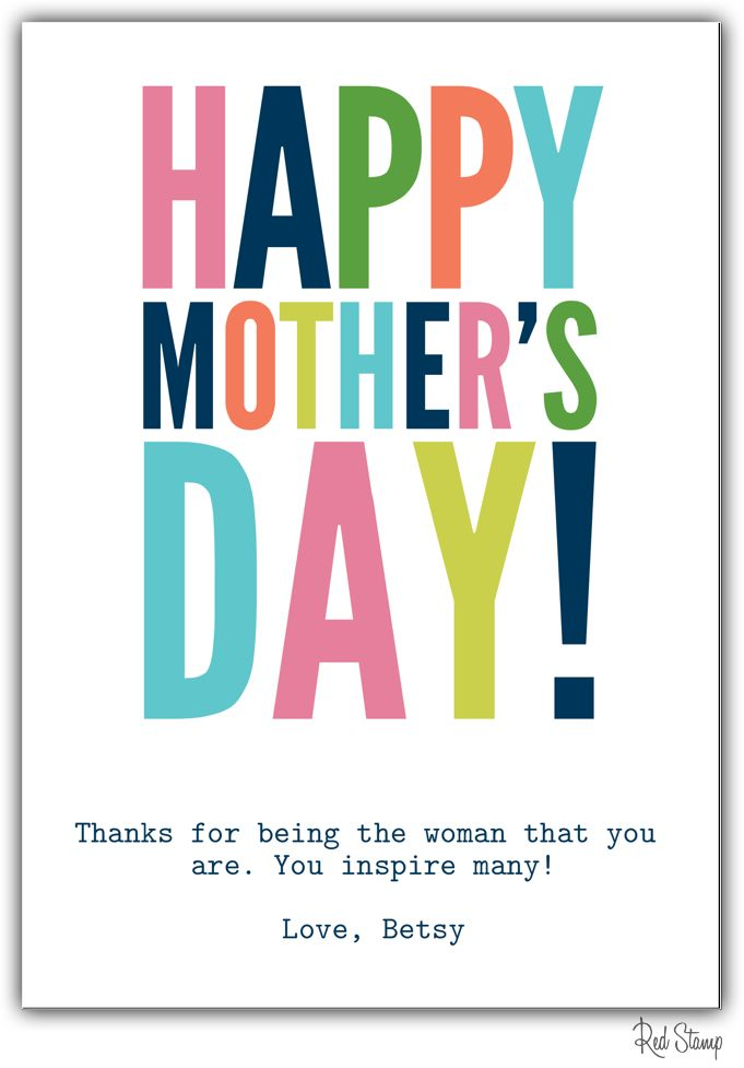 Send A Free Digital Mother S Day Card Or Surprise Her With Printed Paper Postcard All Designs Found In Red Stamp